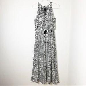 Adrienne Vittadini Tribal Print Maxi Dress sz L